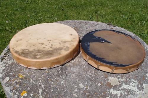 tambours cerf et bison