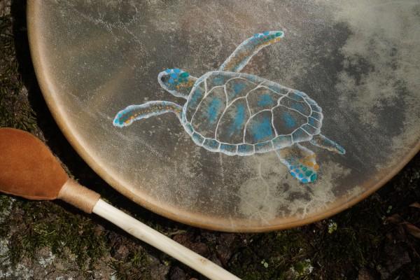 tambour chamanique tortue